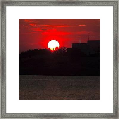 Apulian Sunset Framed Print