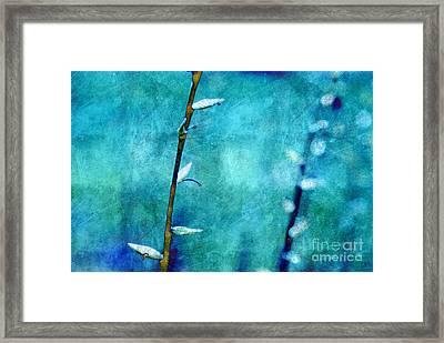 Aqua And Indigo Framed Print by Aimelle