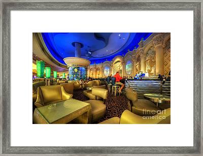Aqua Bar Framed Print by Yhun Suarez