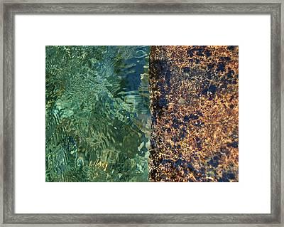 Aqua Petra Framed Print