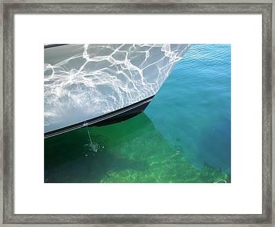 Aqua Reflection Framed Print by Patricia Drohan