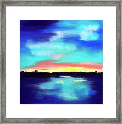 Aqua Reflections Framed Print by Diana Tripp