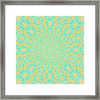 Aqua Soleil Framed Print