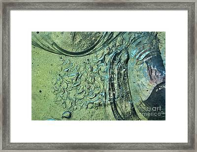 Aqua Stained Glass Framed Print by Susan Isakson