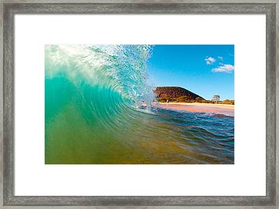 Aqua Swirl Framed Print by Monica and Michael Sweet