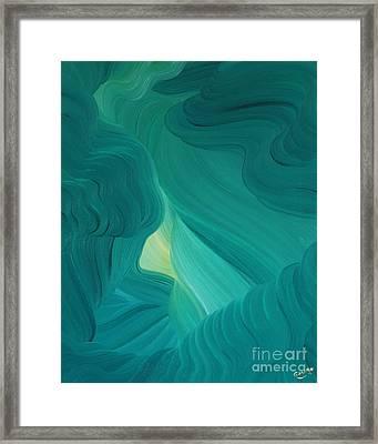 Aquamarine Vista Framed Print by Ginny Gaura
