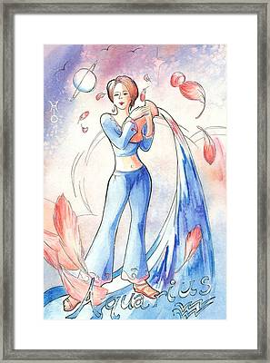 Aquarius Framed Print by Arwen De Lyon