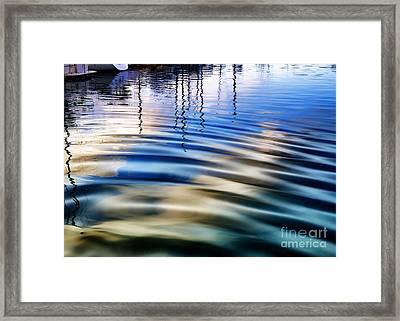 Aquatic Reflections Framed Print by Mariola Bitner
