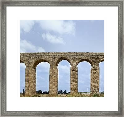 Aqueduct Of Acre Framed Print by Noam Armonn