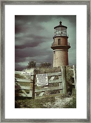Framed Print featuring the photograph Aquinah Light II Marthas Vineyard by Jack Torcello