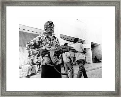 Arab-israeli War, Female Guerrilla Framed Print by Everett