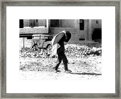 Arab-israeli War, Jordanian In Pajamas Framed Print