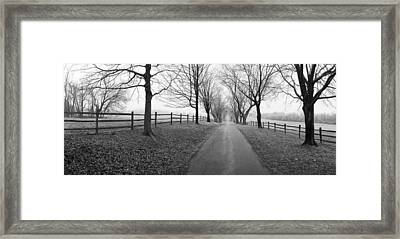 Araby Farm Lane Framed Print by Jan W Faul
