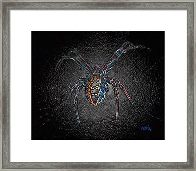 Framed Print featuring the photograph Arachnophobia by Patrick Witz