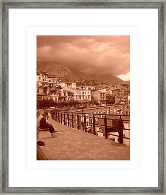 Arachova Greece Framed Print