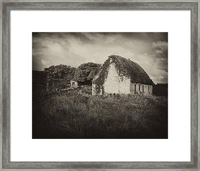 Framed Print featuring the photograph Aran Island Home by Hugh Smith