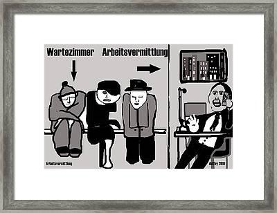 Arbeitsvermittlung Framed Print