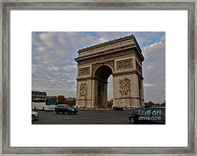 Framed Print featuring the photograph Arc De Triomphe by Eric Tressler