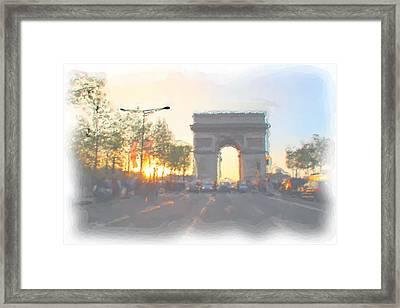 Arc De Triomphe I Framed Print by Thomas Frias