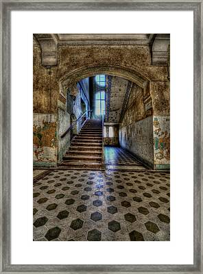 Arch And Stairs Framed Print