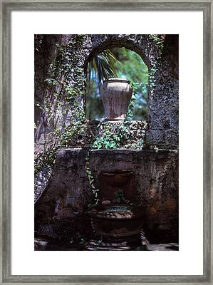 Arch And Urns Framed Print