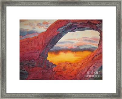 Arch Element Too Framed Print by Vikki Wicks