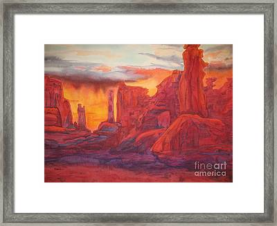 Arch Elements In Time  Framed Print by Vikki Wicks
