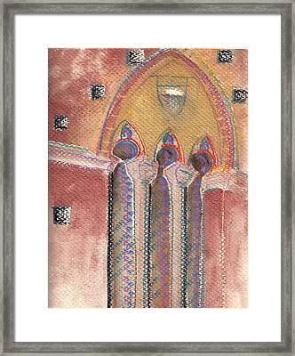 Arch In Italy Watercolor Framed Print