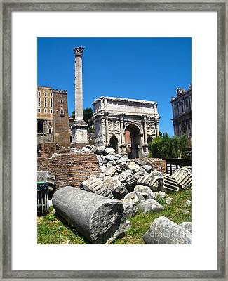 Arch Of Septimius Severus Framed Print by Gregory Dyer