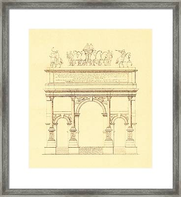 Arch Of Septimius Severus In Rome Italy Framed Print by Pictus Orbis Collection