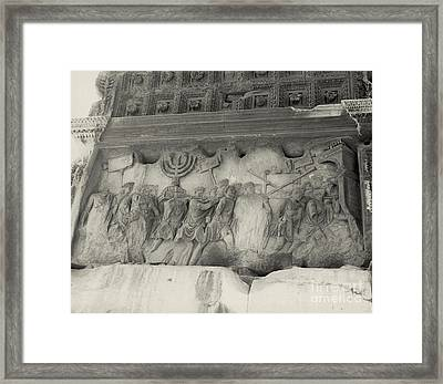 Arch Of Titus, Rome, Italy Framed Print by Photo Researchers, Inc.