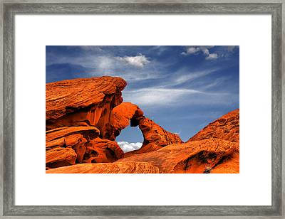 Arch Rock - Amazing Show Of Nature Framed Print by Christine Till