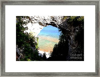 Arch Rock Framed Print
