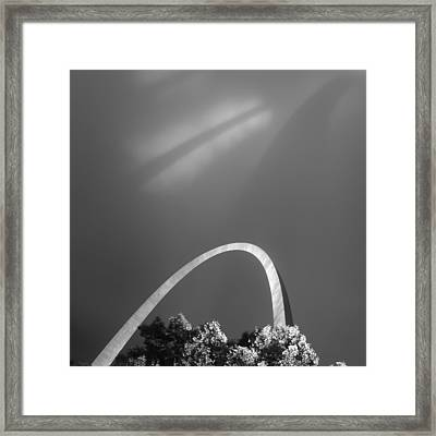 Arch Shadows Framed Print