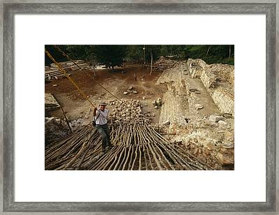 Archaeologist Michael Smyth Eases Framed Print