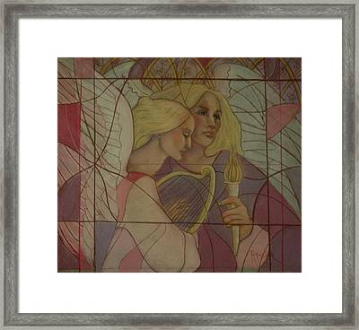 Archangel And Faith Framed Print