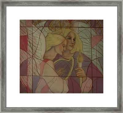 Archangel And Faith Framed Print