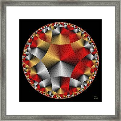 Archangel Michael's Shield Framed Print by Manny Lorenzo