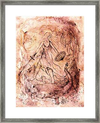Archangel Study Framed Print by Rachel Christine Nowicki