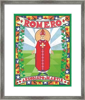 Archbishop Romero Icon Framed Print by David Raber