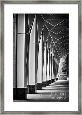 Arched Passageway Framed Print by Danuta Bennett