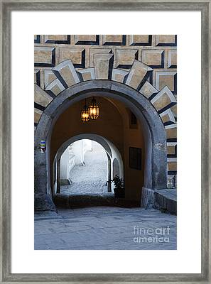 Arched Walkway Framed Print by David Buffington