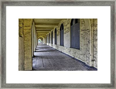 Arched Windows And Wall Framed Print