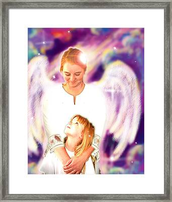 Archer. Angelic 4 Framed Print by Nada Meeks