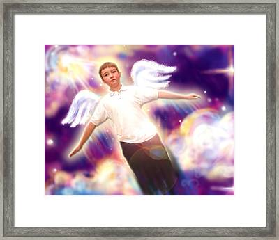 Archer. Angelic 5 Framed Print by Nada Meeks