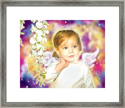 Archer.angelic 3 Framed Print by Nada Meeks