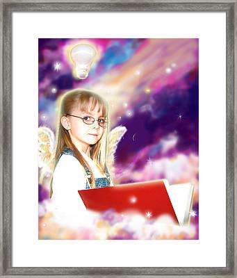 Archer.angelic Framed Print by Nada Meeks