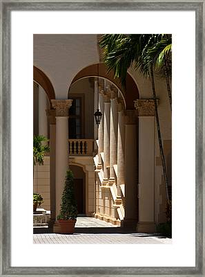 Framed Print featuring the photograph Arches And Columns At The Biltmore Hotel by Ed Gleichman