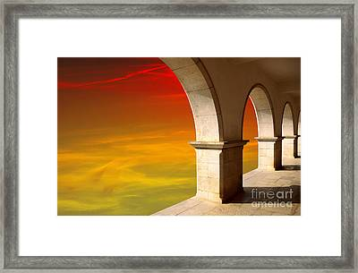 Arches At Sunset Framed Print
