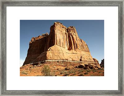 Arches N P The Courthouse Towers View Framed Print by Paul Cannon